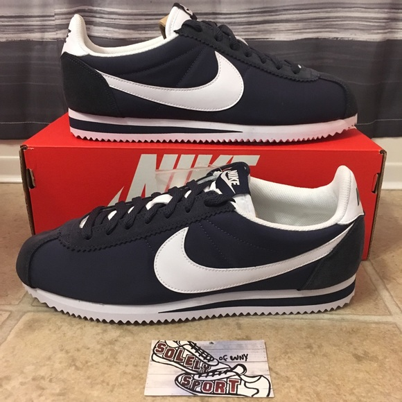 low priced 89803 609e7 New Nike Classic Cortez Running Shoes Mens Blue